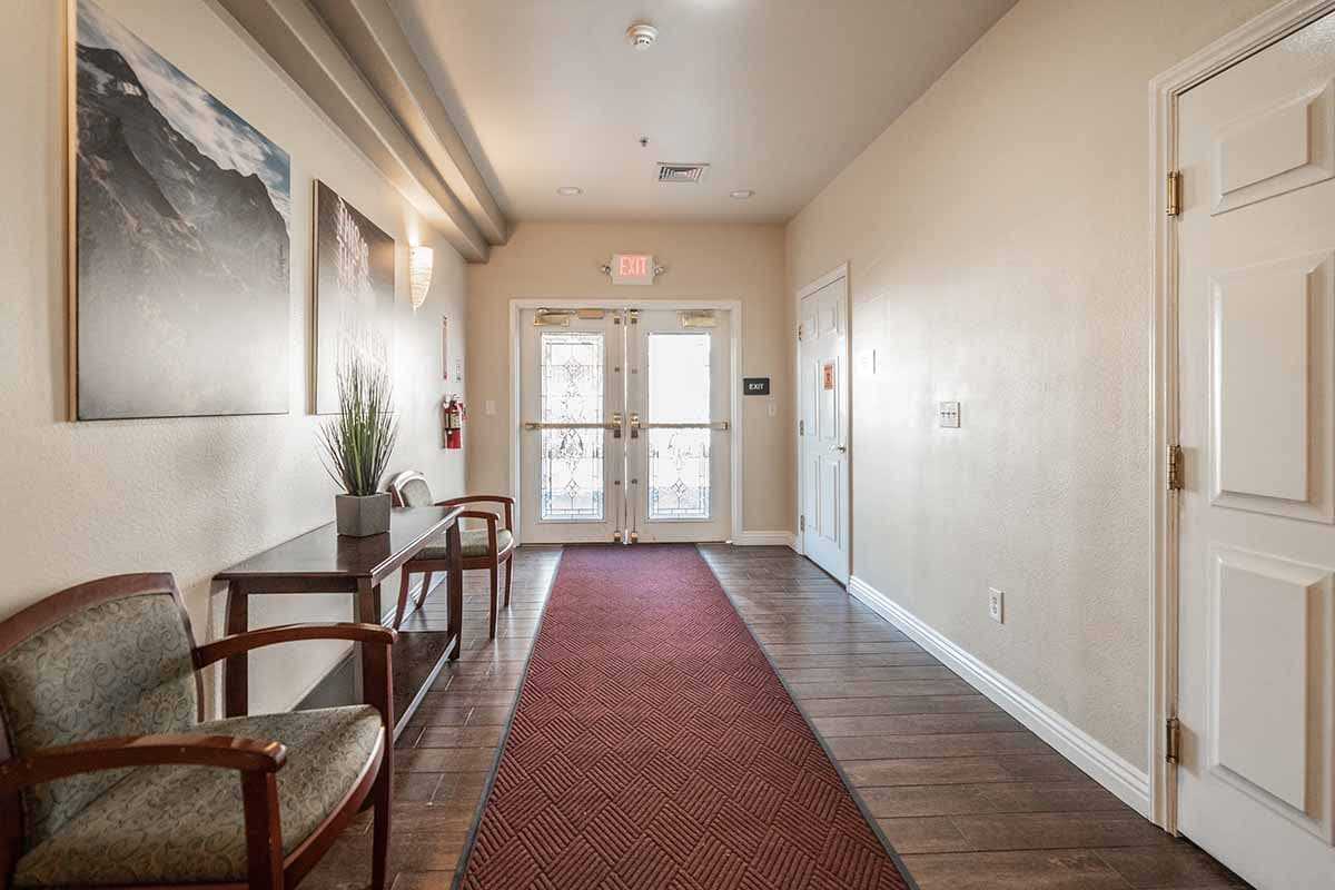 front hallway of nevada addiction rehab center